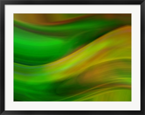 Framed Wave Forms Print