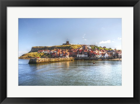 Framed Whit By Harbour 2 Print
