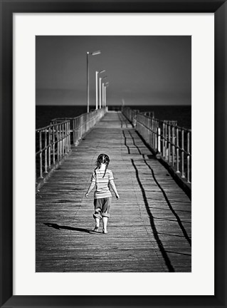 Framed Lonely Jetty Print