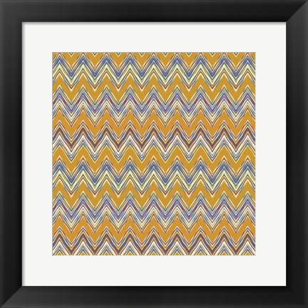 Framed Chevron Waves I Print