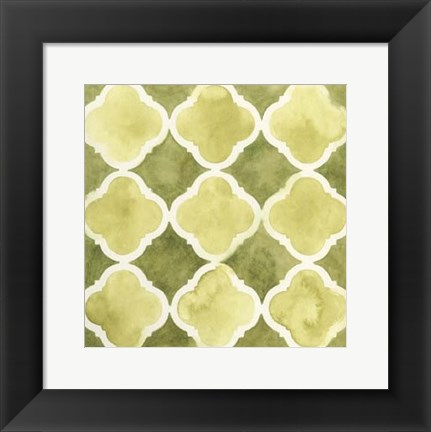 Framed Watercolor Tile IV Print