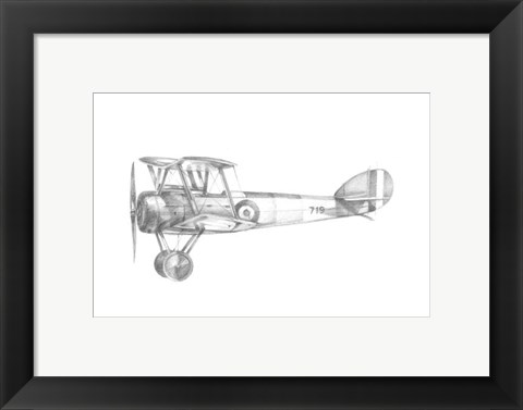 Framed Technical Flight V Print