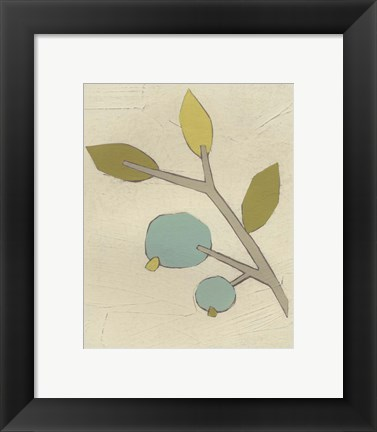 Framed Simple Stems II Print