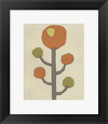 Framed Simple Stems IX Print