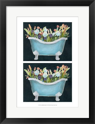 Framed 2-Up Bathtub Garden II Print