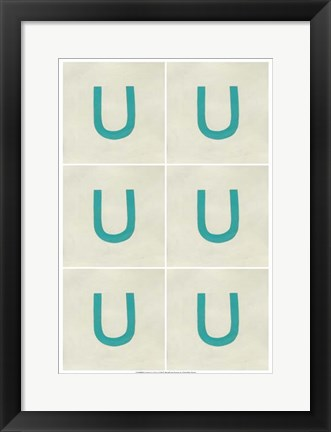 Framed Lucien's U 6-Up Print