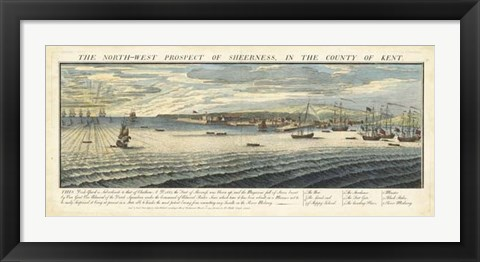 Framed Buck's View - Sheerness in Kent Print