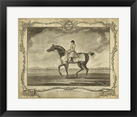 Framed Distinguished Horses II Print