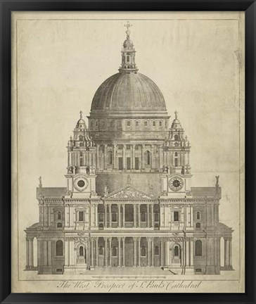 Framed St. Paul's Cathedral Print