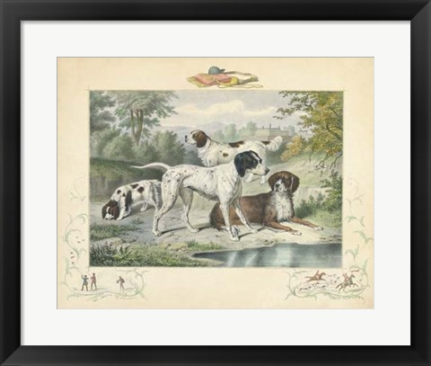Framed Group of Spaniels Print