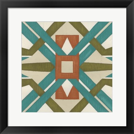 Framed Global Motif I Print