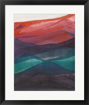 Framed Red Hills I Print