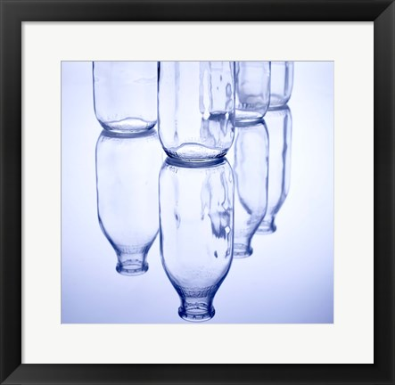 Framed Milk Bottles Print