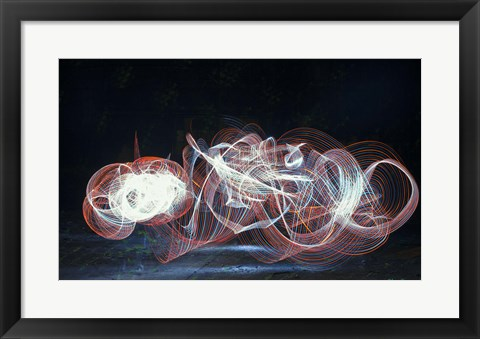 Framed Dancing Light Wave Print