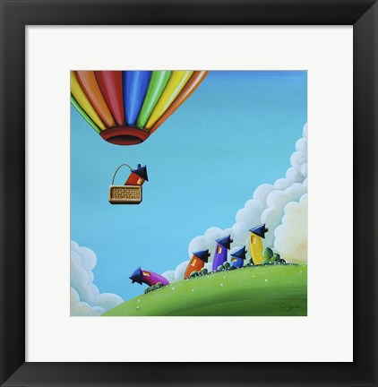 Framed Up, Up, and Away Print