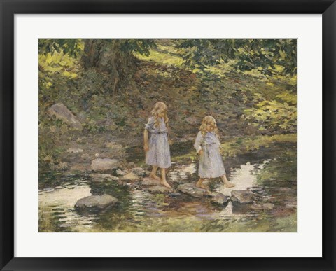 Framed Stepping Stones, 1893 Print