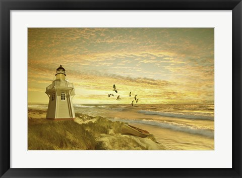 Framed Pacific Sunset 6 Print