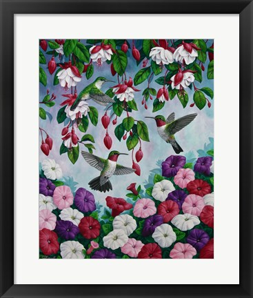 Framed Hummingbird Heaven Print