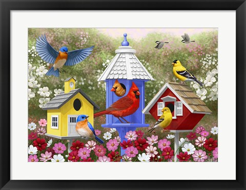 Framed Primary Colors Print