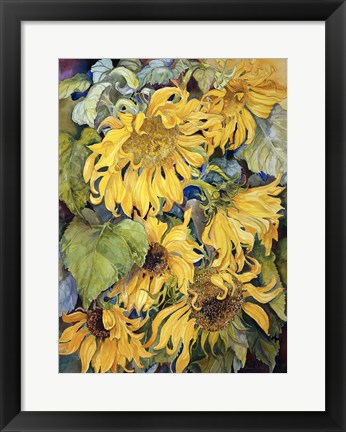 Framed Cascading Sunflowers Print