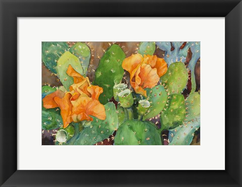Framed Blossoming Cactus Print