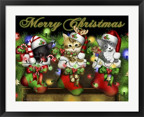Framed Purrfect Stocking Stuffers Print