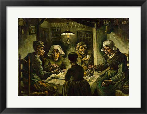 Framed Potato Eaters Print