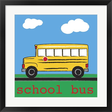 Framed School Bus Print