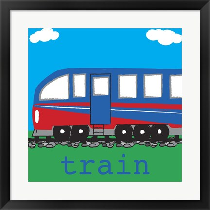 Framed Train - Modern Print