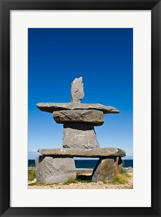 Framed First Nations, Inukshuk Print