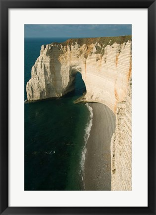 Framed Manneporte Arch and Cliffs, Normandy Print