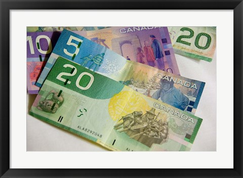 Framed Money, Canadian Currency Print
