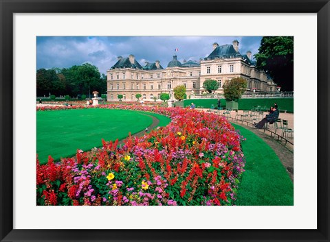 Framed Luxembourg Palace in Paris, France Print