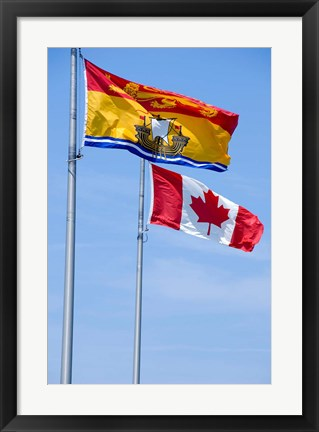 Framed Canada, New Brunswick Flag Print