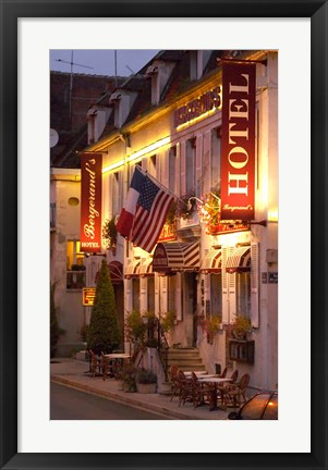 Framed Hotel Bergerand's in Village of Chablis Print