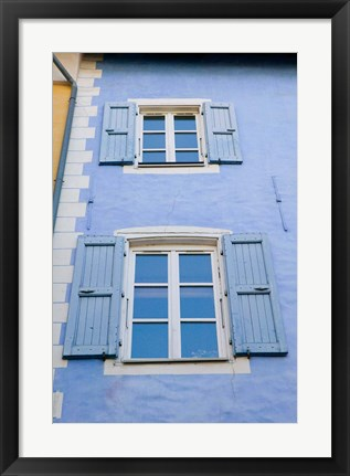 Framed Grand Rue Building, French Alps Print