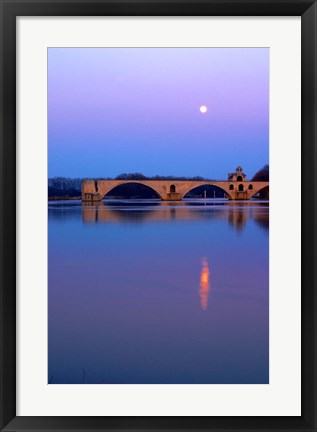 Framed St Benezet Bridge, Avignon Print