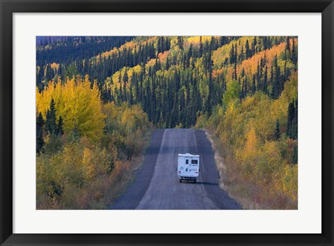 Framed Dempster Highway in the Fall Print