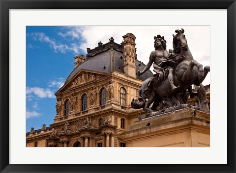 Framed Courtyard of Musee du Louvre, Paris, France Print