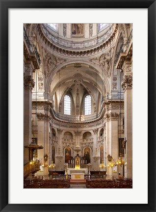 Framed Eglise Saint Paul in the Marais District Print