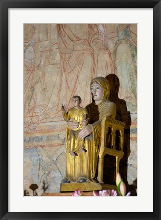 Framed Madonna and Child Statue Print