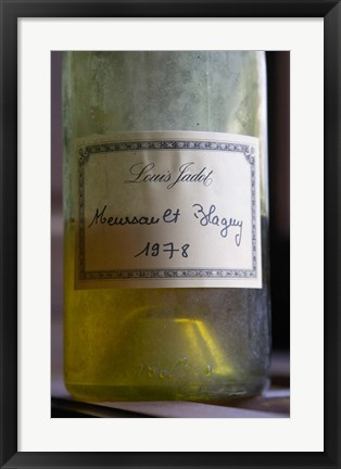Framed Bottle of Louis Jadot Meursault Blagny Print