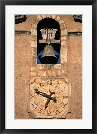 Framed Church Bell and Clock Print