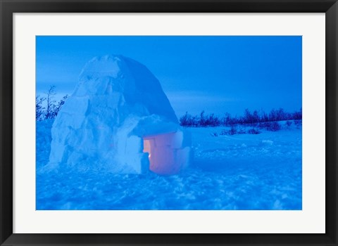 Framed Interior of Arctic Igloo Print