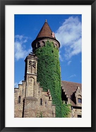 Framed Ivy-Covered Medieval Tower Print