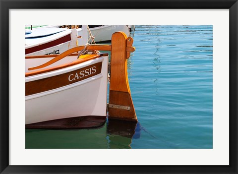 Framed Traditional Boat with Wooden Rudder Print