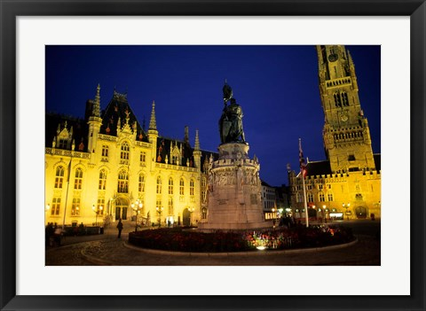 Framed House of Governor and Belfort Church, Belgium Print