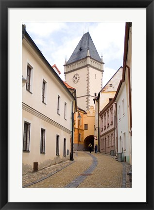 Framed Old Town Buildings in Tabor, Czech Republic Print