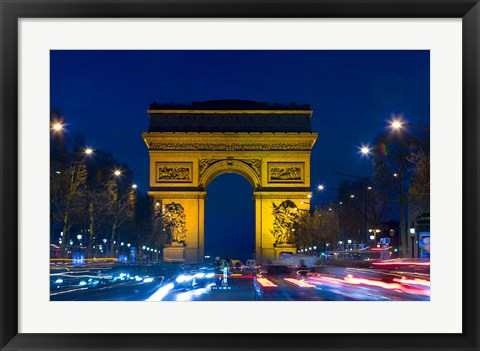 Framed Military Ceremony at the Arc de Triomphe Print