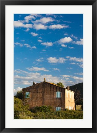 Framed Abazia Farmhouse at Sunset Print